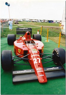 Nigel Mansell 1989 Ferrari 640 F1. Christies Historic Festival at Silverstone 1992.