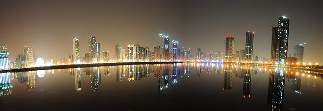 Sharjah: night panorama