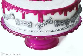 Halloween Cake ,Glittered Bones
