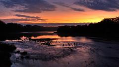 Sunrise on the lake HDR
