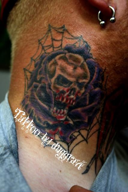 Neck tattoo flickr photo sharing for Still breathing tattoo