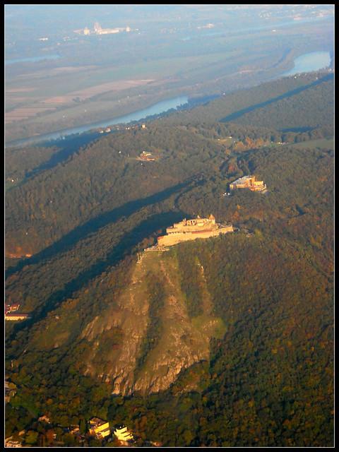 Castle of Visegrád aerial view