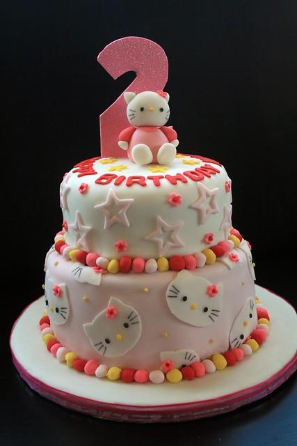 Hello Kitty 2nd birthday cake Flickr - Photo Sharing!