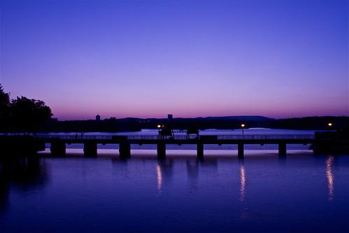 bridge sunset river ottawa