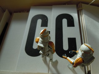CC in the box of letters