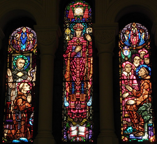 ireland church glass saint king harry stained richard lane studios clarke anthonys friary athlone franciscan westmeath