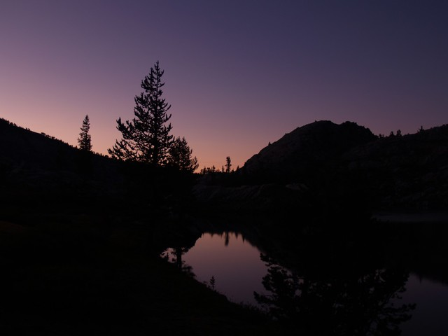 Dawn on Granite Lake.
