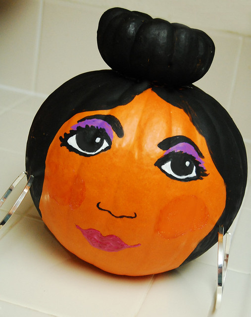 Snooki from Jersey Shore pumpkin