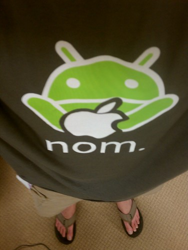 5119748672 857dde1d04 Geek shirt I wore today: Android noms on Apple #newsfromthecube #nftc