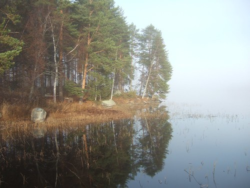mist lake fog finland keuruu isokirja pohjoisjärvi