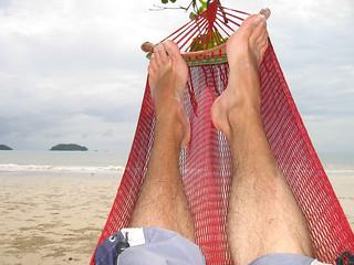 Hangmat met voeten in Thailand #02