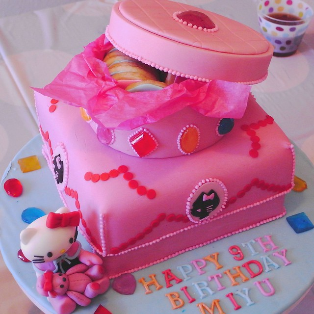 Hello Kitty Jewel Box Birthday Cake
