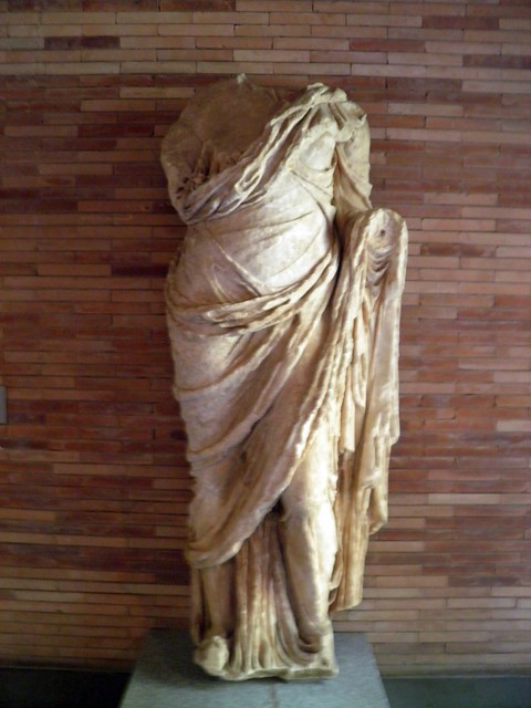 Sculture of a woman found in Trajan's arch, National Museum of Roman Art, Augusta Emerita