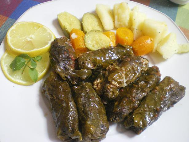 Dolmadakia (stuffed vine leaves)