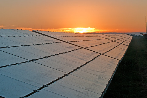 Duke Energy's 16-megawatt DC (14-megawatt AC) Blue Wing Solar Project in San Antonio, Texas consists of nearly 215,000 photovoltaic solar panels and is one of the largest PV solar farms in the United States.