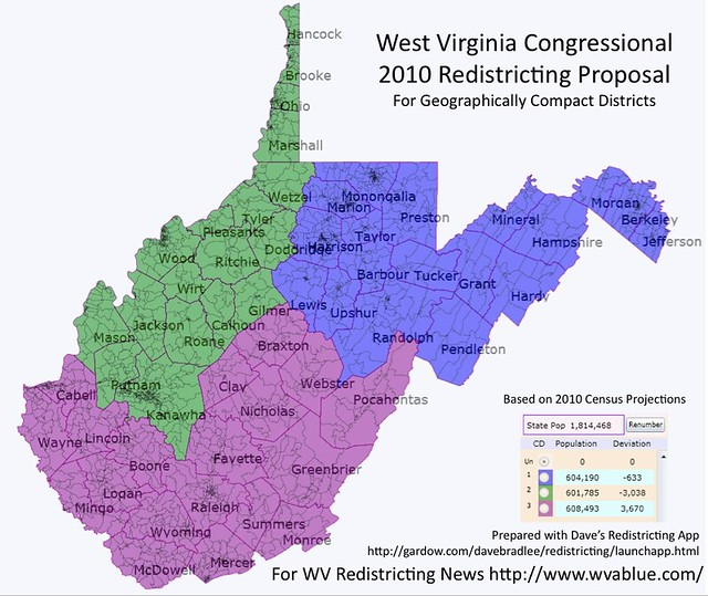 2010 West Virginia Congressional Redistricing Proposal For