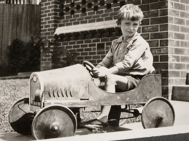 Neil with his pedal car