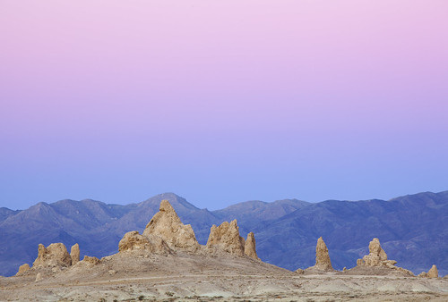 Trona Pinnacles after Sunset