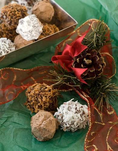 Gluten-free sunbutter truffles