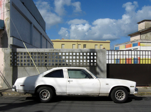 street city urban color building classic chevrolet colors nova car architecture landscape downtown puertorico decay structure arecibo elements transportation caribbean mundane urbanlandscape contemporarylandscape peopleless newtopographics nuevatopografia
