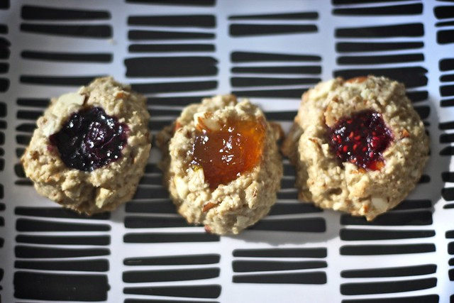"life changing"" vegan thumbprint cookies 