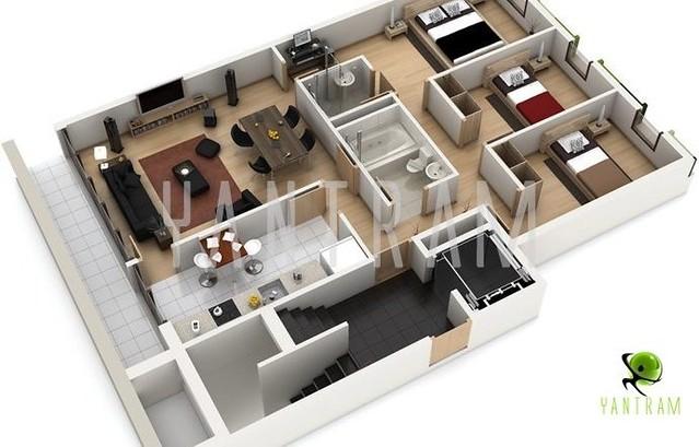 3d Floor Plan Floor Plan Design Virtual Tour Floor Plan