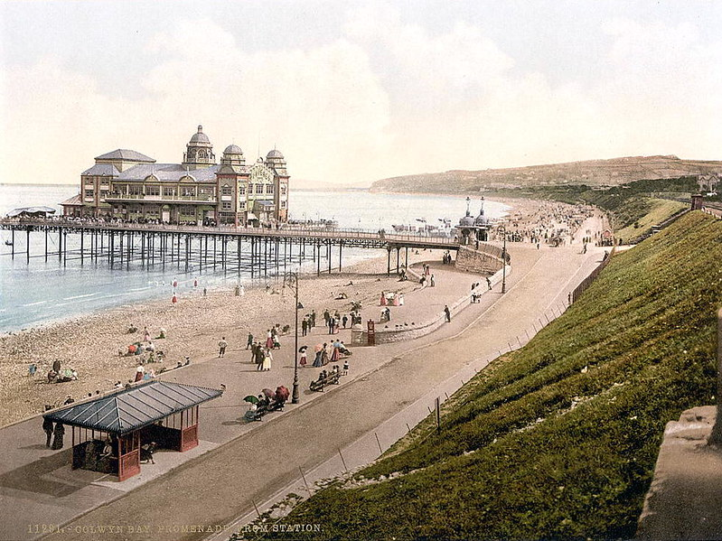 The promenade at Colwyn Bay