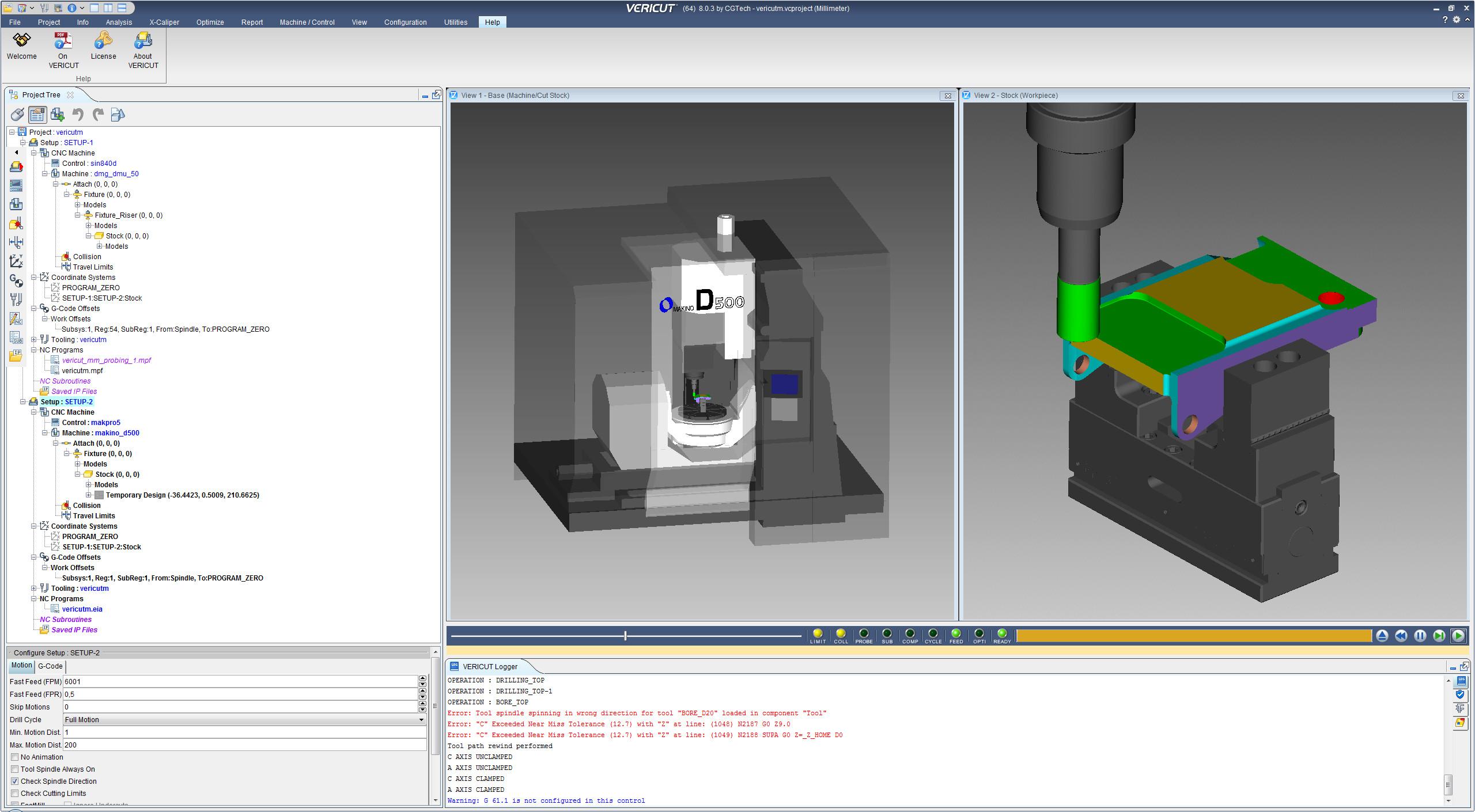 CNC machining with CGTech VERICUT 8.0.3 full crack