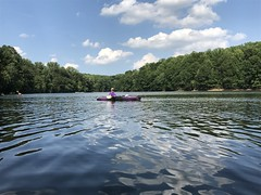 July 2 kayaking on Rocky Gorge Reservoir.