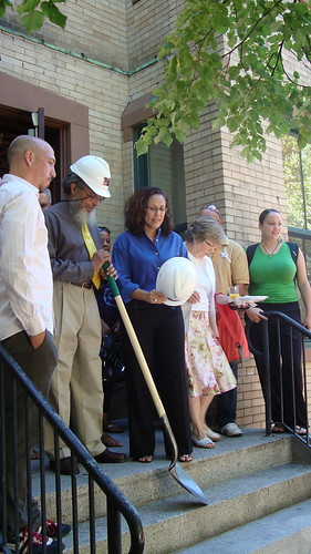 Handicap Ramp Ground Breaking Ceremony by Villa Victoria Center for the Arts