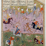 Khosrow and Shirin hunting lions