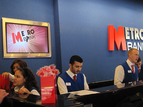 Metro Bank launch - tellers