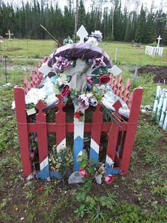 Fenced Grave with Blanket