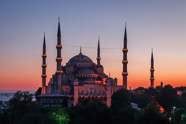 Sultanahmet Mosque at Sunset