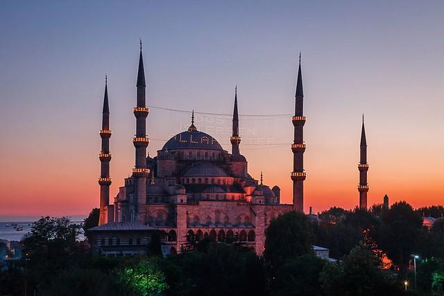 Sultanahmet Mosque at Sunset
