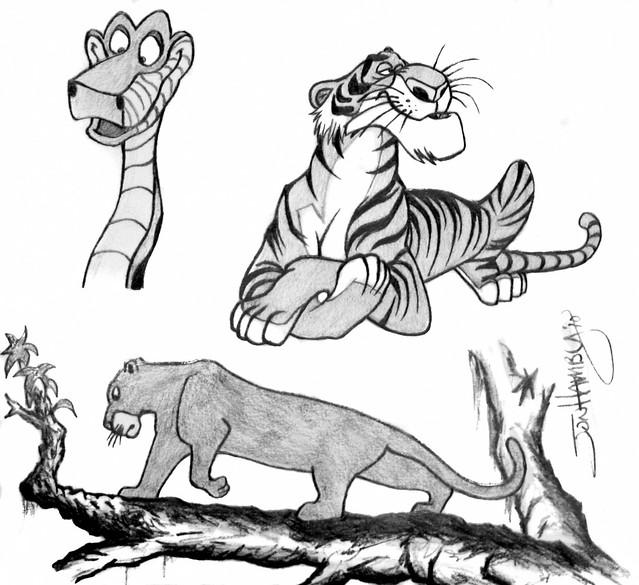 Jungle Book Sketch By Jon Hamby | Flickr - Photo Sharing!