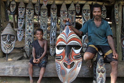Simon Joiyap, carver on the Sepik river.