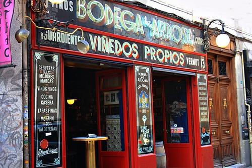 Bodega de la Ardosa. Calle Colón. Madrid