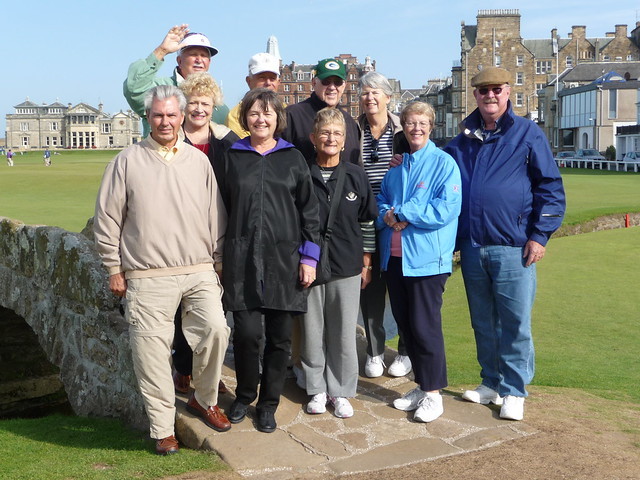 Private Tour Group at Swilken Bridge, St Andrews, Scotland