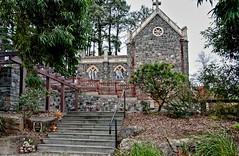 Montsalvat Chapel seen from Eltham Cemetery