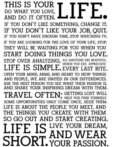 this is your life the holstee manifesto flickr photo sharing. Black Bedroom Furniture Sets. Home Design Ideas