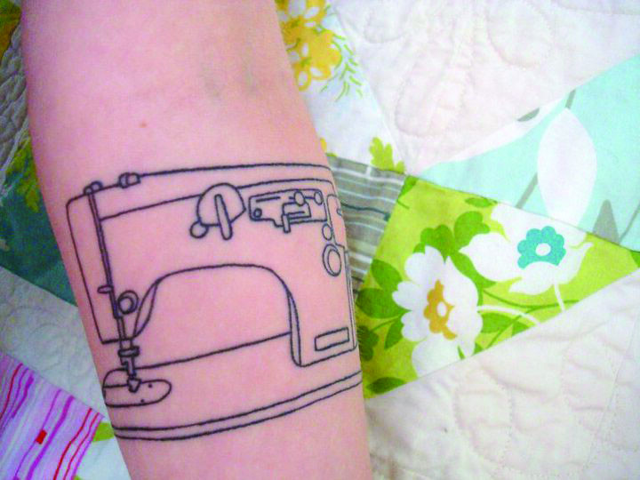 Sewing Machine Tattoo 7 My Newest Ink Line Drawing Of My Flickr