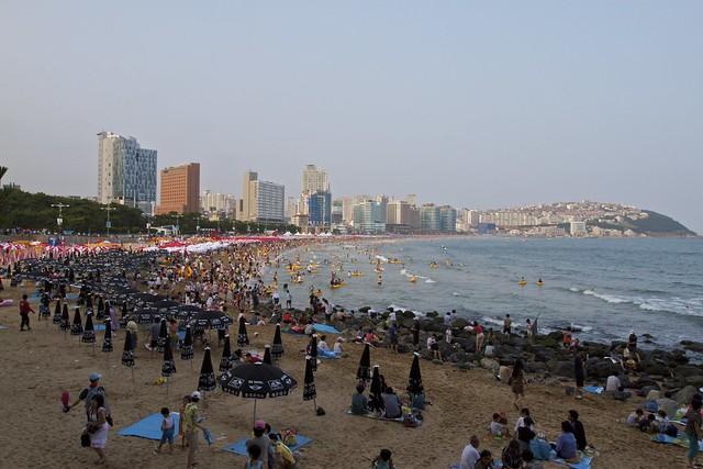 Haeundae Beach, Busan by CC user ccampbell_images on Flickr