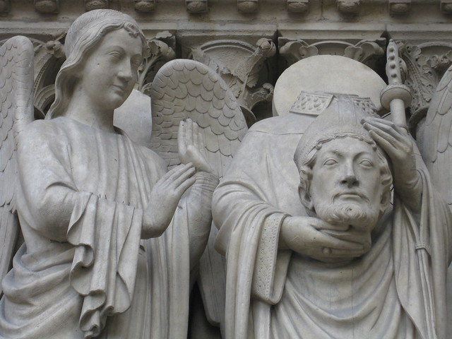 Notre Dame Entryway Sculpture