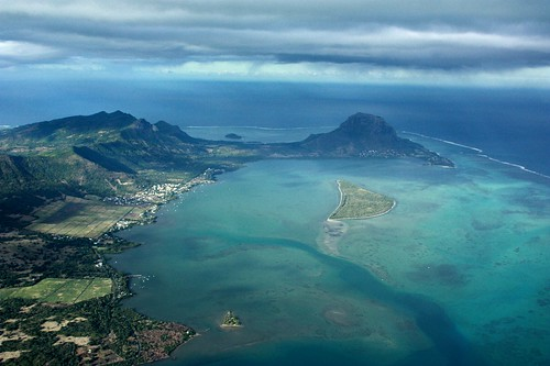 Sky view of the Morne, Mauritius Island