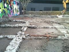 Archaeological dig at Little La Trobe Street, Melbourne