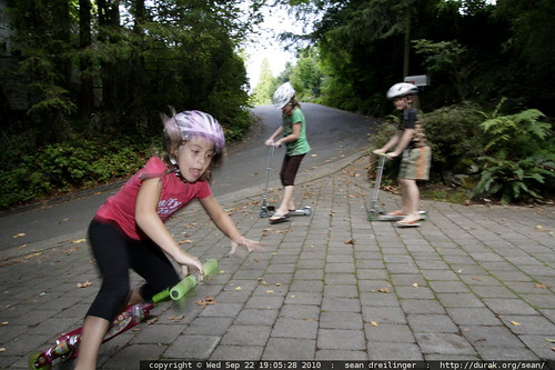 good thing she's wearing a helmet