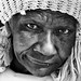 Homeless bag woman in Napier, Cape Province, SA. by Les Jacobs