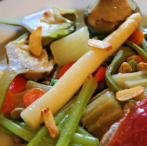 Menestra de verduras frescas (detalle)