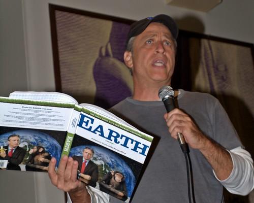 Jon Stewart Earth mic Shankbone